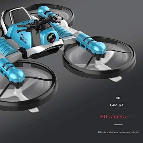 Noblik FPV RC Drone Motorcycle 2 nel 1 Pieghevole Elicottero WiFi Camera 0.3MP Altitude Hold RC Quadcopter Moto Drone Gift Toy-Green