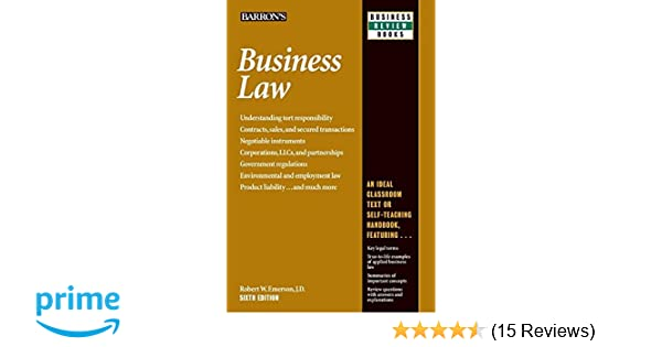 Business law barrons business review series robert w emerson business law barrons business review series robert w emerson jd 9781438005119 amazon books fandeluxe Images
