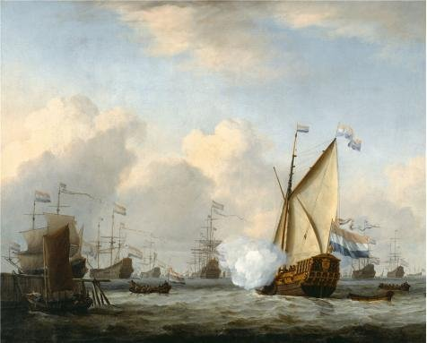 Oil Painting 'William Van De Velde The Younger,Marine View,1668', 12 x 15 inch / 30 x 38 cm , on High Definition HD canvas prints is for Gifts And Dining Room, Kitchen And Nursery Decoration, on sale