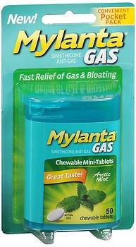 Mylanta Mini-Tabs Actacid, Mint, 50 Count