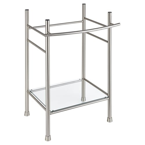 Metal Console Lavatory Sink - American Standard 8719000.295 Edgemere Console Table Legs, Brushed Nickel