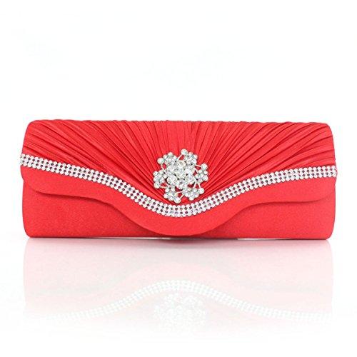 Las Mujeres Señoras De Seda Cubiertos Bolso De Noche Bolso Nuevo Chica Red
