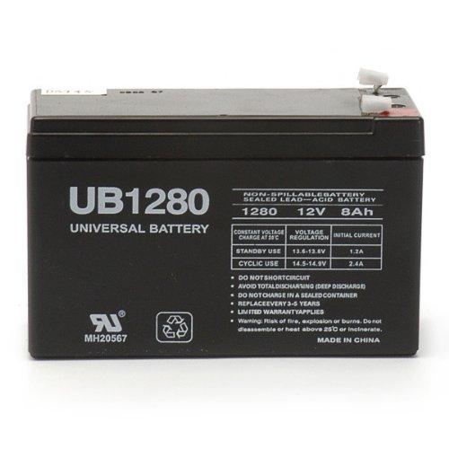 Universal Power Group UPG D5743 - UB1280 - AGM Battery - Sealed Lead Acid - 12 Volt - 8 Ah Capacity - F1 Terminal