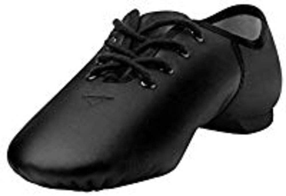 Leo Black Leather Lace Up Jazz Shoe 2