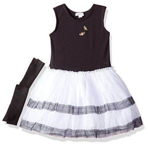 - Flapdoodles Girls' Little Stripe Tutu Dress with Cotton Bodice, Black 5