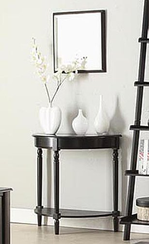 Convenience Concepts French Country Entryway Table, Black - Luna Accent Table