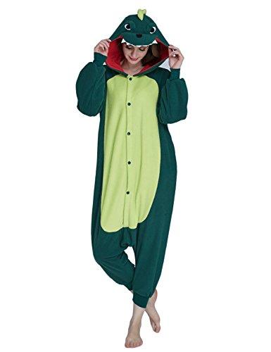 (KING FUN Unisex Adult Animal Cosplay Pajamas Dinosaur Costumes Sleepwear Medium)