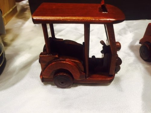 Tuk Tuk Mini Car Handmade Wood Thailand Thai Product for Collection by Thailand OTOP
