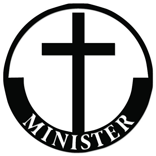 Christian Minister Vinyl Decal Sticker For Vehicle Car Truck Window Bumper Wall Decor - [8 inch/20 cm Tall] - Gloss SILVER Color