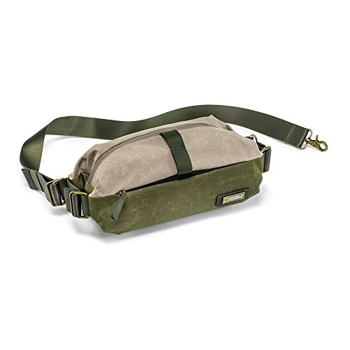 National Geographic Rain Forest Camera Waistpack, Green/Beige (NG RF 4474) Canvas Zipped Compact Wallet