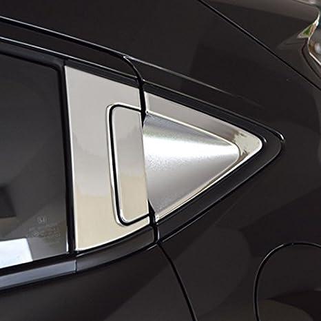 Bearfire Chrome Rear Door Side Window Triangle Cover and Handle Cover Sticker for Honda Vezel HR-V XRV