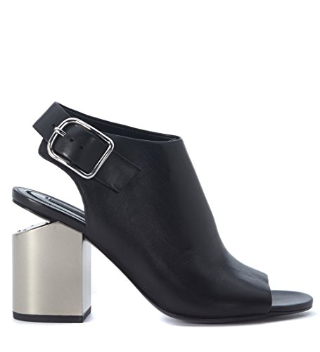 Sandalo Con Tacco In Pelle Nero Alexander Wang Donna Nadia Nero