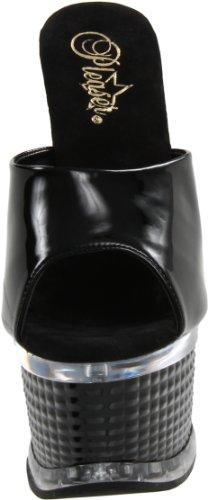Pleaser Women's Illusion-651/B/M Platform Sandal Black/Black L8xVHVgb