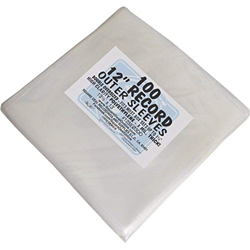 100 Double Oversize Plastic Outersleeves for 12
