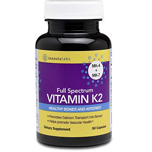 🥇 InnovixLabs Full Spectrum Vitamin K2 with MK-7 and MK-4