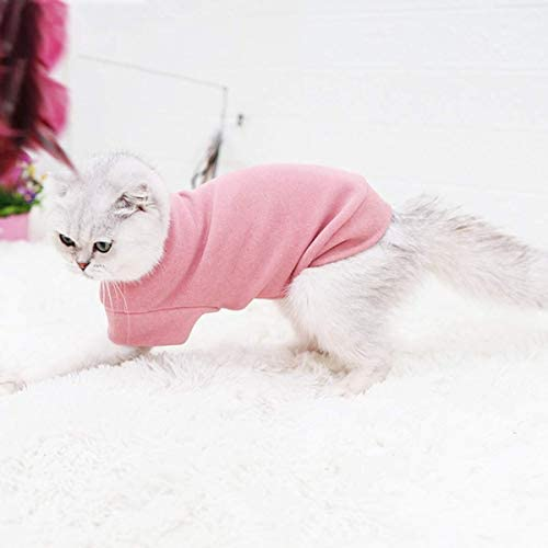 Small Dogs Fleece Dog Sweatshirt - Cold Weather Hoodies Spring Soft Vest Thickening Warm Cat Sweater Puppy Clothes Sweater Winter Sweatshirt Pet Pajamas for Small Dog Cat Puppy 23