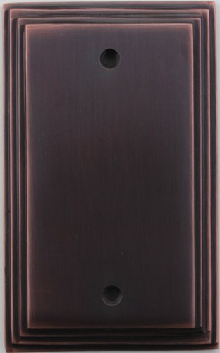 Classic Accents Deco Antique Copper 1 Gang Blank Wall Plate