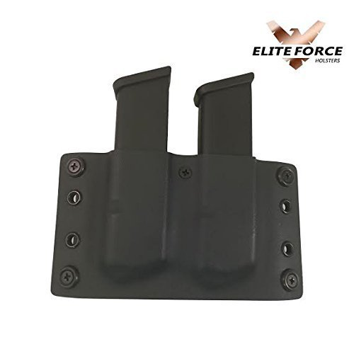 Amazon Com Glock 9mm 40 Cal Owb Double Stacked Dual Kydex Mag