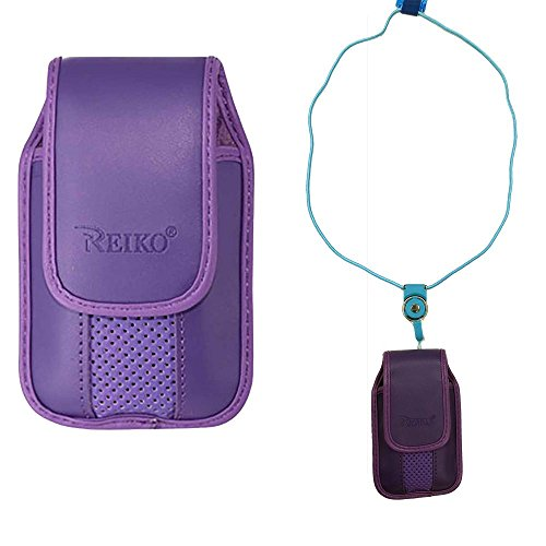 Around The Neck Hanging Lanyard Magnetic Top Purple Case fit