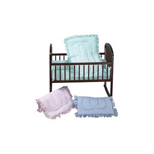 Baby Doll Bedding Gingham Cradle Set, Mint