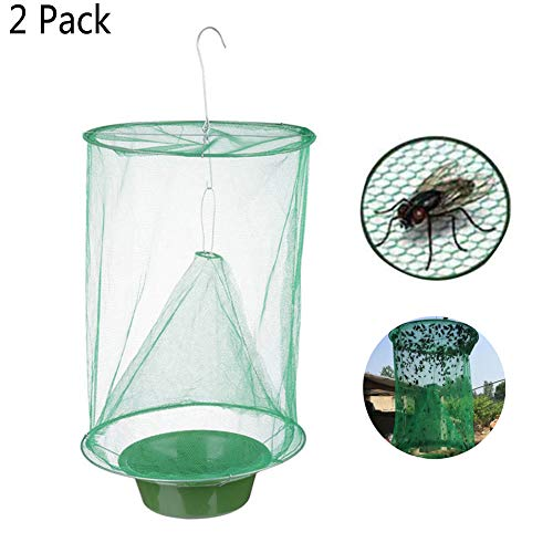 Aquarius CiCi Ranch Fly Traps Top Catcher Strips for Outdoor Family Farms Park Restaurants(2 ()