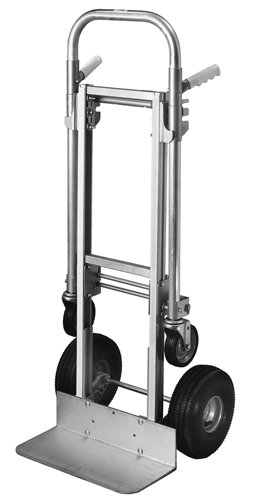 Milwaukee Hand Trucks 45136 Modular Aluminum Convertible Truck with Twin Pin Handle and 10-Inch Pneumatic Tires by Milwaukee