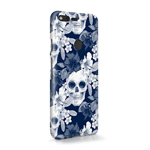 Tropical Floral Pirate Skulls Pattern Indie Hype Hipster