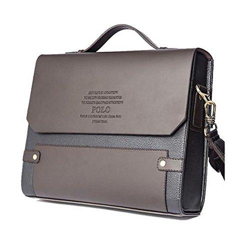 a05a609a8b MESIDA Polo Men s Genuine Leather Briefcase Business Laptop Bag ...