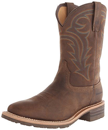 Ariat Men's Hybrid Rancher H2O Western Cowboy Boot, Oily Distressed Brown, 10 M US
