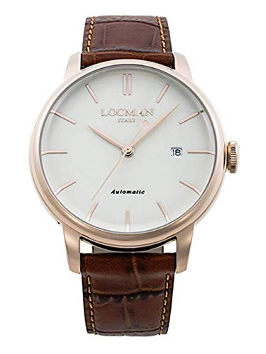 LOCMAN Analog Quartz Watch with Stainless Steel Strap, Clear, 3 (Model: 4573282436608)