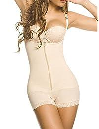 YIANNA Women's Seamless Firm Control Open Bust Bodysuit Aide Slimming Body Shapewear
