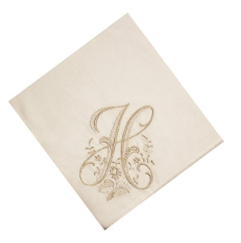 Wren Song HANDKERCHIEF - LADIES WHITE HANDKERCHIEF with Monogram 3 Pack - Handkerchief Monogram