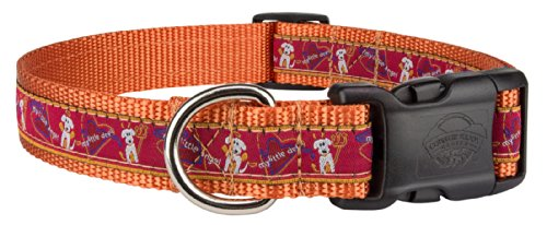 Country Brook Petz | Deluxe My Little Angel/Devil Woven Ribbon Dog Collar Limited Edition - Large