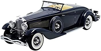 1936 Duesenberg SJN (Supercharged) Convertible Coupe Dark Blue Limited Edition to 140pcs 1/