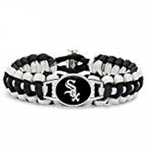 - Swamp Fox Premium Style Chicago White Sox Baseball Team Adjustable Paracord Survival Bracelet only