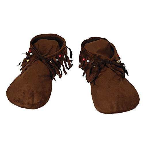 Bristol Novelty BA457 Hippy Native American Moccasins Men's, One Size -