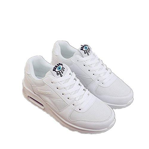 Hasag Zapatos de Primavera y Verano para Estudiantes nuevos Zapatos Deportivos de Mujer Zapatos Planos para Correr Ocasionales Zapatos Deportivos B white