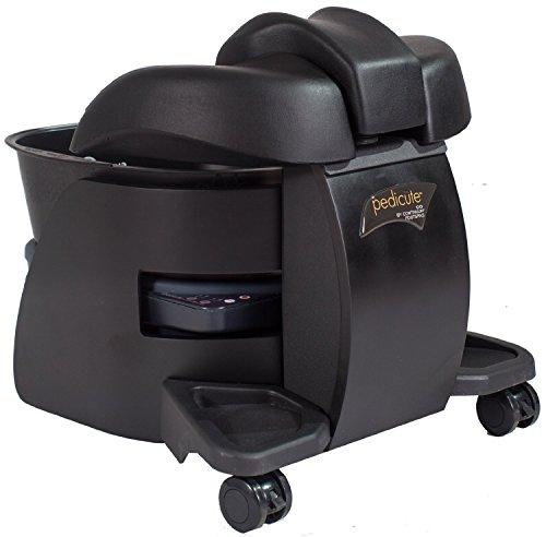 Continuum BLACK w/ BLACK TUB Pedicute Portable (NO Hose NO Plumbing) Pedicure Spa + FREE Cape Co Apron ($24 value)
