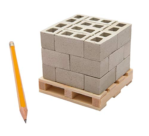 Small Supply Company Miniature Cinder Blocks with Pallet, 24 Pack