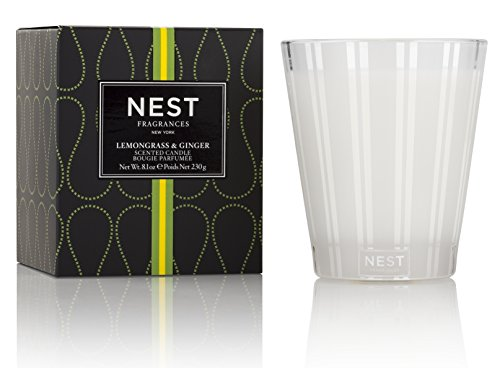 NEST Fragrances NEST01LG003 Classic Candle- Lemongrass & Ginger , 8.1 oz