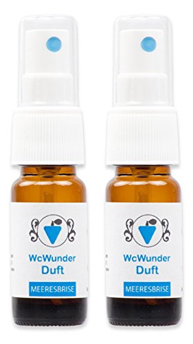 WcWunder Toilettenduft, Toilettenparfüm, Geruchsblocker 2x 10ml ´to go´-Version Meeresbrise