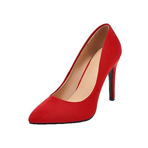 Talon Dépolissement Tire Rouge Légeres Unie Chaussures À Haut Femme Aalardom Couleur wqXgt4x