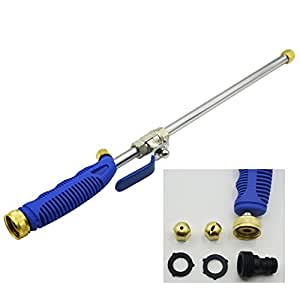 High Pressure Power Washer Water Hose Wand Spray Nozzle Sprayer Great for Car Washing and High Outdoor Window Washing (18 inches)