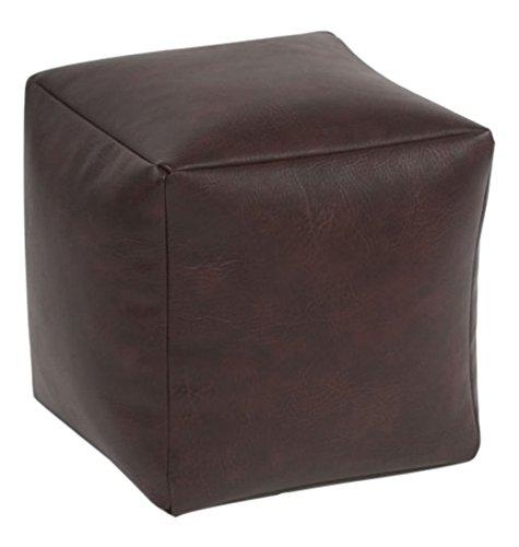 Beautiful Beanbags Brown Faux Leather Cube Beautiful Beanbags Ltd BRN-FL-CUBE