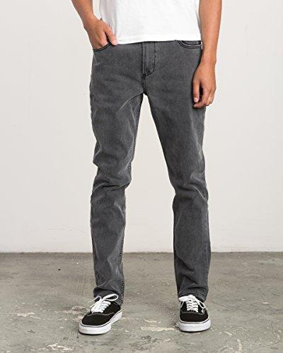 Gray Jeans Vintage (RVCA Men's Daggers Stretch Denim Jean, Vintage Charcoal, 33)