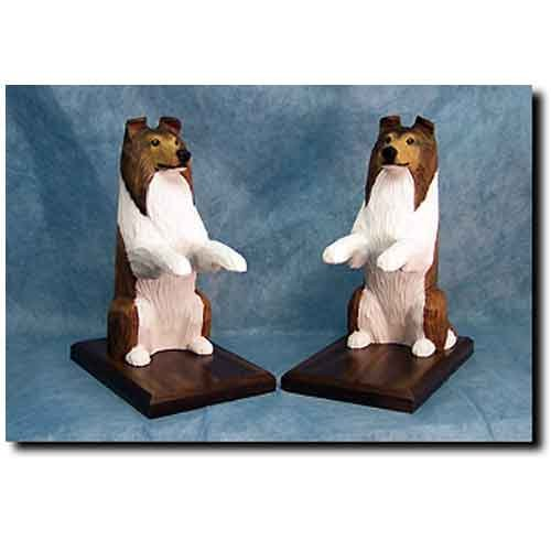Michael Park Collie Bookends Rough Sable