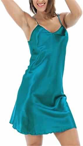 New Women s Sexy Babydoll Satin Silk Lingerie Chemise Mini Night Dress  Black Size S 9 XXXL c579b358e