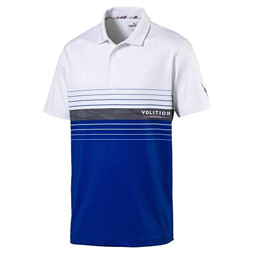 Puma Golf Men's 2019 Volition Horizon Polo, Surf The Web-Bright White, XX-Large