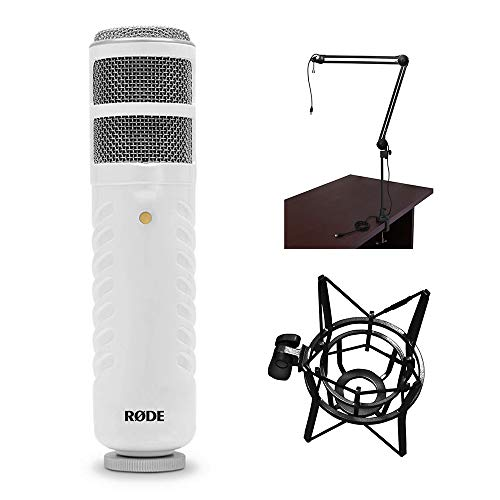Rode Podcaster Studio Custom Kit: Podcaster, Two-Section Broadcast Arm with Integrated USB Cable, and PSM1 shock mount