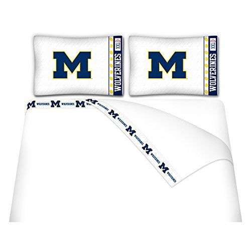 NCAA Michigan Wolverines Micro Fiber Sheet Set, Full (Ncaa Fiber Wolverines Michigan)